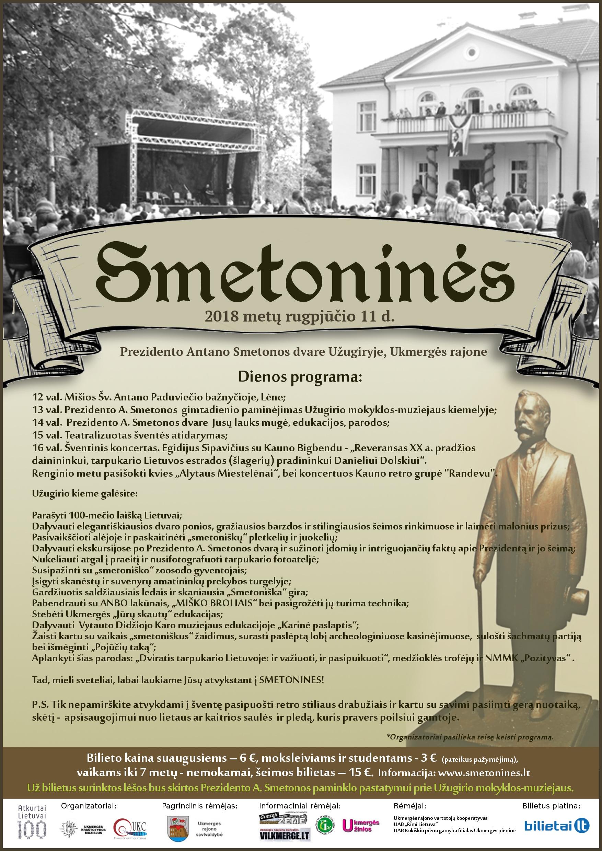 Smetonines 2018 plakatas